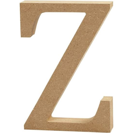 Picture of MDF Wooden Letter Z (8cm)