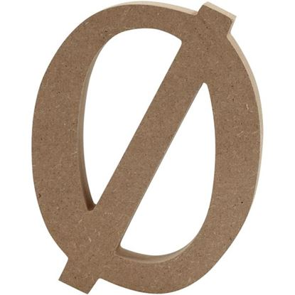 Picture of MDF Wooden Letter Slashed Zero (8cm)