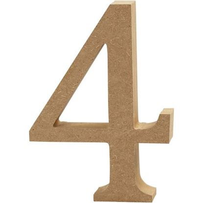 Picture of MDF Wooden Number 4 (8cm)