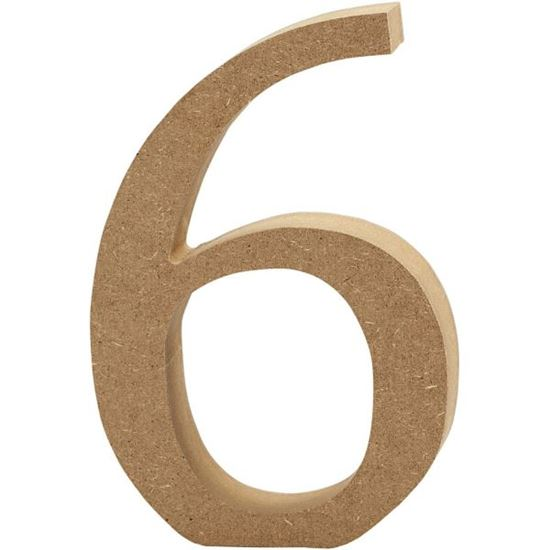 Picture of MDF Wooden Number 6 (8cm)