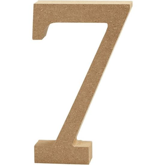 Picture of MDF Wooden Number 7 (8cm)