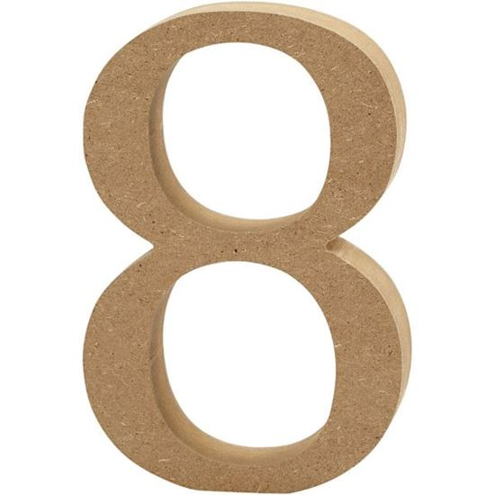 Picture of MDF Wooden Number 8 (8cm)