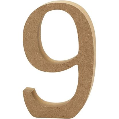 Picture of MDF Wooden Number 9 (8cm)
