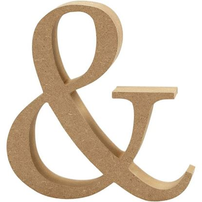Picture of MDF Wooden Letter & Sign (8cm)