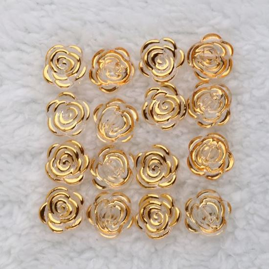 Picture of Rose Gold Effect Resin Buttons (16mm)