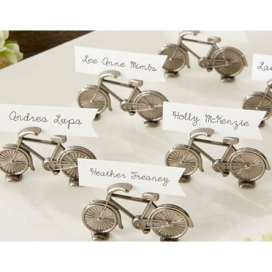 Picture of Bicycle Place Card Name Holder Metal