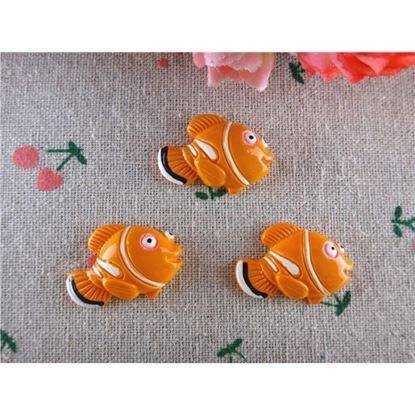 Picture of Nemo Inspired Resin Clown Fish Flatbacked Cabochons