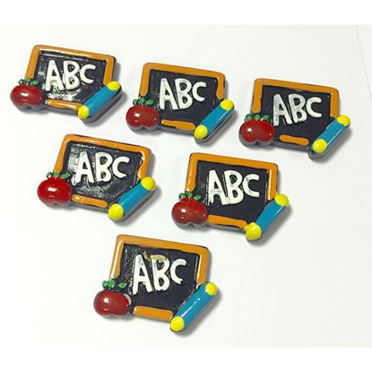 Picture of ABC Blackboard Flatbacked Cabochons