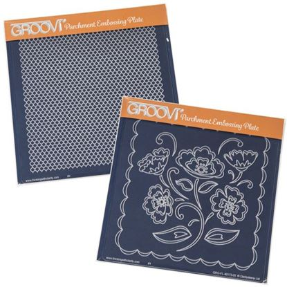 Picture of Groovi Plates Set Lace Flowers & Netting
