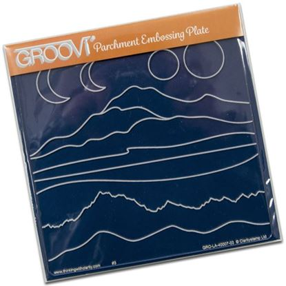Picture of Groovi Plate A5 Square Mountain Hills