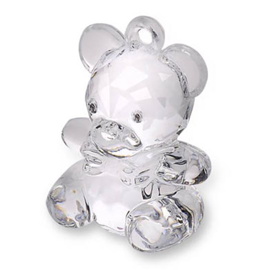 Picture of Acrylic Teddy Bear H: 4.5cm Clear