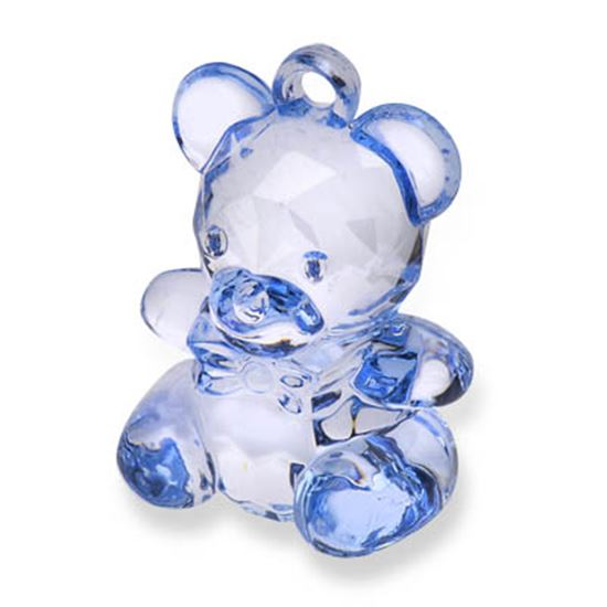 Picture of Acrylic Teddy Bear H: 4.5cm Blue