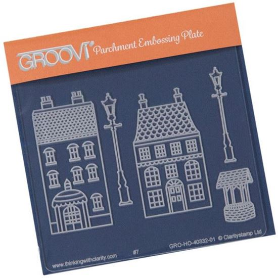 Picture of Wee Houses & Lamp Post Groovi Baby Plate