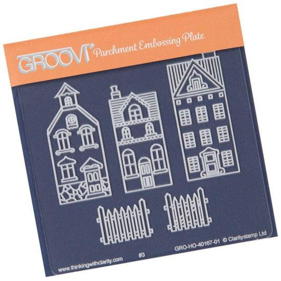 Picture of Wee Houses & Fence Groovi Baby Plate