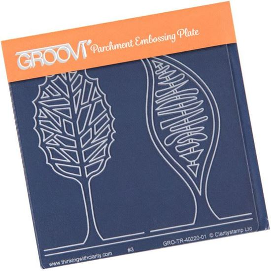 Picture of Two Abstract Trees Groovi Baby Plate