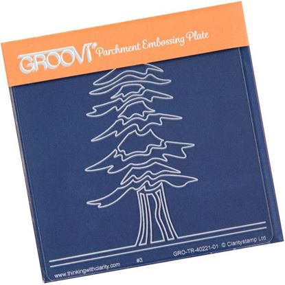 Picture of Abstract Spruce Tree  Groovi Baby Plate