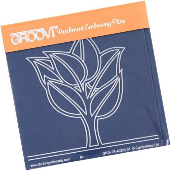 Picture of Abstract Leafy Tree Groovi Baby Plate