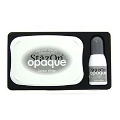Picture of StazOn Opaque Cotton White Ink Pad
