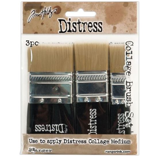 Picture of Tim Holtz Distress Collage Brush Set 3