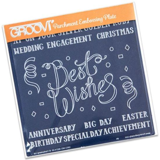 Picture of Best Wishes Groovi Plate A5 Square
