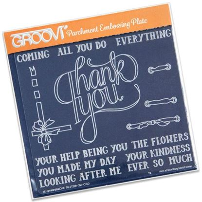 Picture of Thank You Groovi Plate A5 Square