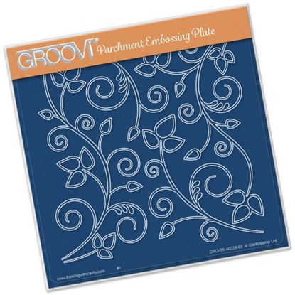 Picture of Leafy Swirl Groovi Plate A5 Square