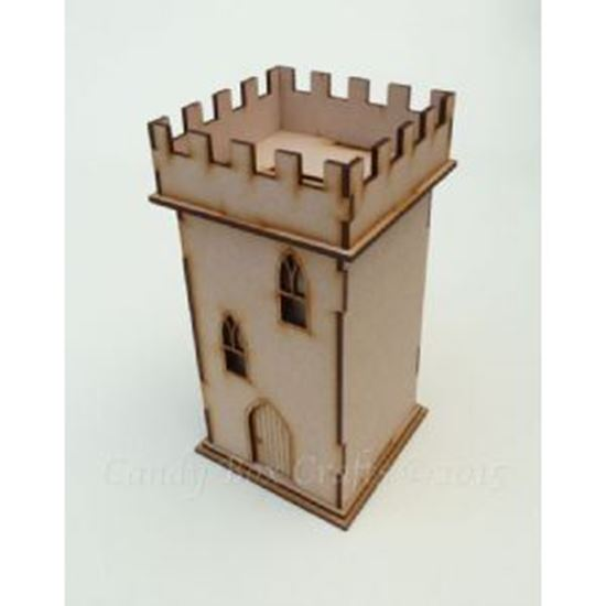 Picture of MDF Castle Keep Money Box