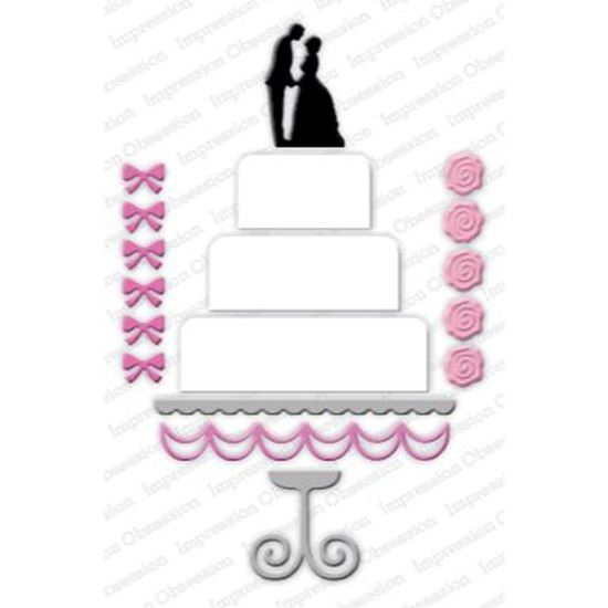 Picture of Impression Obsession Die Wedding Cake