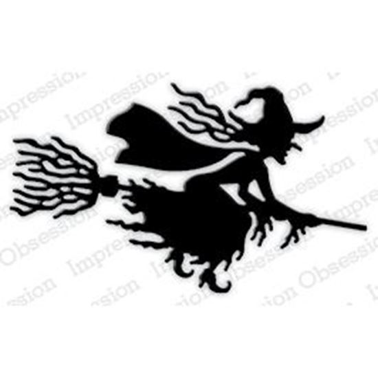 Picture of Impression Obsession Die Set Witch Flying