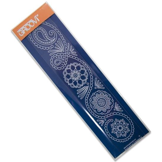 Picture of Groovi Border Plate Funky Henna