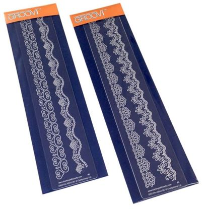 Picture of Groovi Border Plates Set Lace Set 1 & 2
