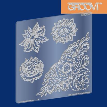 Picture of Groovi Plate A5 Square Wall Flowers