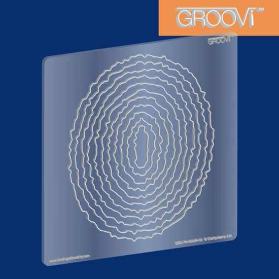 Picture of Groovi Plate A5 Square Oval Deckle Nested