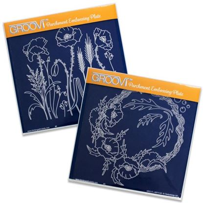 Picture of Groovi Plate Set Blooming Poppies