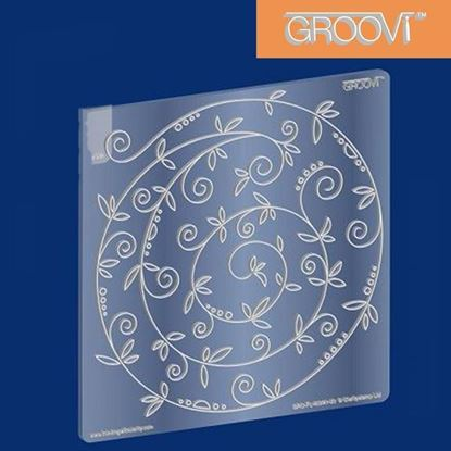 Picture of Groovi Plate A5 Square Sprig Swirl