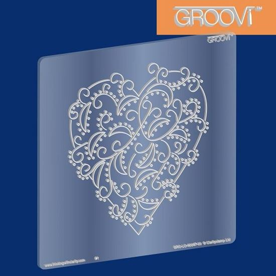 Picture of Groovi Plate Heart Swirl A5 Square