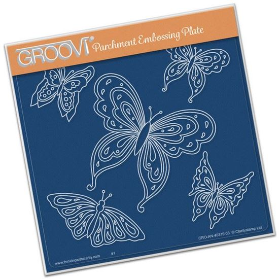 Picture of Jayne's Butterflies Groovi Plate A5 Square