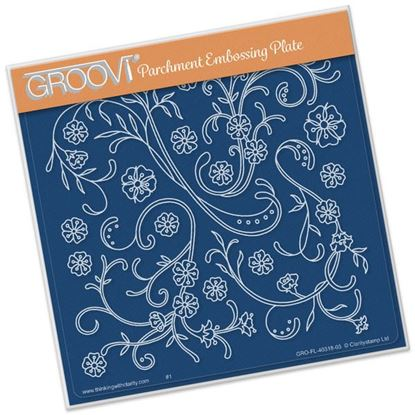 Picture of Jayne's Flourishes Groovi Plate A5 Square