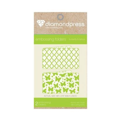 Picture of Diamond Press Embossing Folder - Butterfly & Lattice