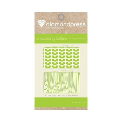 Picture of Diamond Press Embossing Folder - Woodgrain & Petal
