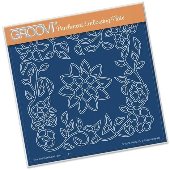 Picture of Flower Tangle Frame Groovi Plate A5 Square