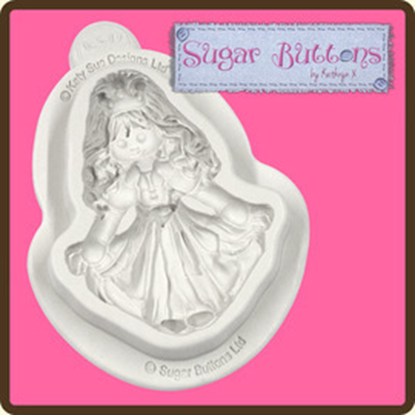 Picture of Katy Sue Sugar Buttons Mould - Princess