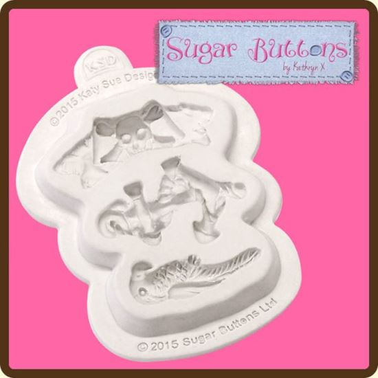 Picture of Katy Sue Sugar Buttons Mould - Pirate Accessories