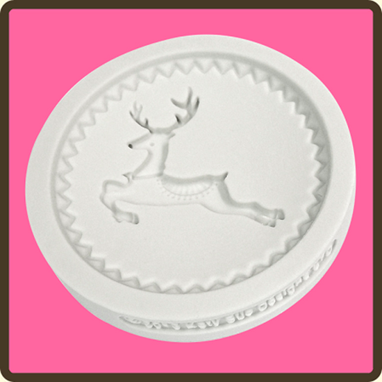 Picture of Katy Sue Design Cupcake Mould - Prancing Reindeer