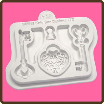Picture of Katy Sue Mould Decorative Key & Lockets