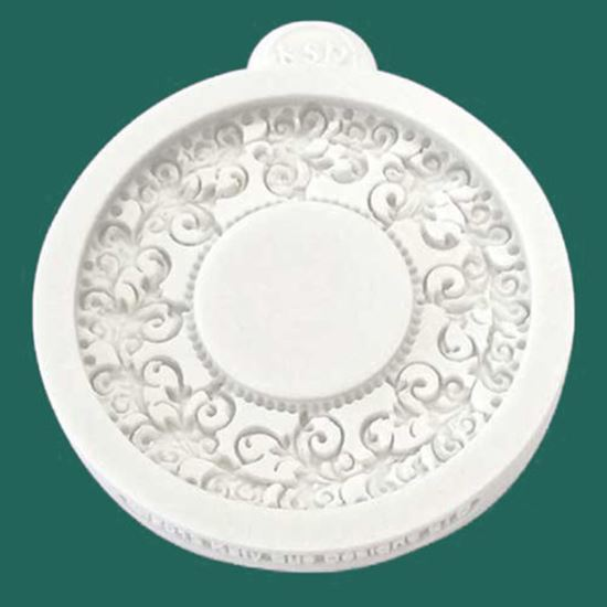 Picture of Katy Sue Embellishment Mould - Miniature Frame Vintage Circle