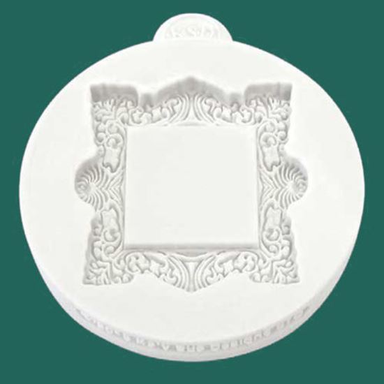 Picture of Katy Sue Embellishment Mould - Miniature Frame Vintage Square