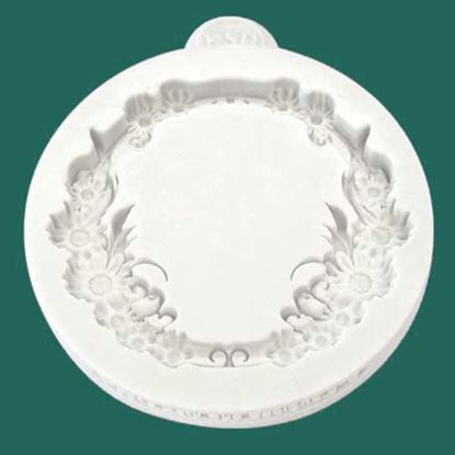 Picture of Katy Sue Embellishment Mould - Miniature Frame Floral Circle
