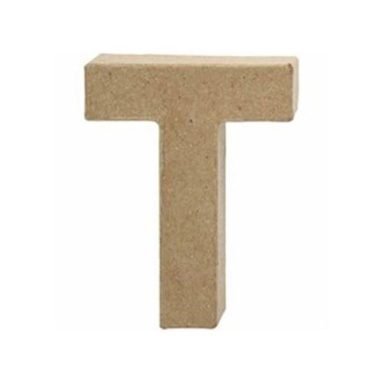 Picture of Paper Mache 10cm Letter T