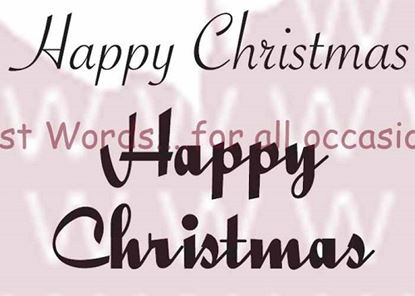 Picture of Woodware Just Words Stamps - Happy Christmas